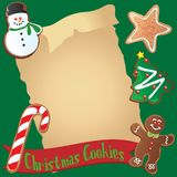 Christmas Cookie Recipe or Invitation royalty free illustration