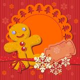 Christmas cookie recipe for party invitation stock illustration