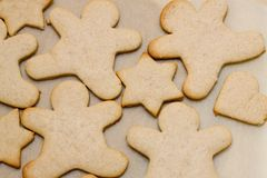 Christmas cookie in shape of man Royalty Free Stock Image