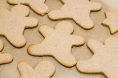 Christmas cookie in shape of man Royalty Free Stock Photo