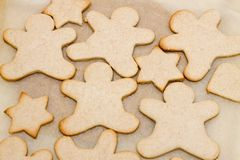 Christmas cookie in shape of man Royalty Free Stock Images