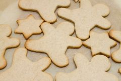 Christmas cookie in shape of man Stock Image