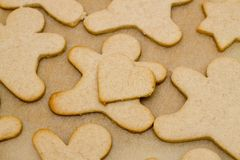 Christmas cookie in shape of man Stock Photo