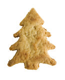 Christmas cookie shaped as a Christmas tree Royalty Free Stock Image