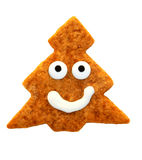 Christmas cookie - smiling tree Royalty Free Stock Photos