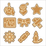 Christmas cookie vector icons set Stock Photography