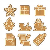 Christmas cookie vector icons set Royalty Free Stock Photo