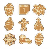 Christmas cookie vector icons set Royalty Free Stock Images