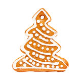 Christmas Cookie on White Background Royalty Free Stock Image