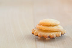 Christmas cookie on a wooden table Royalty Free Stock Photography