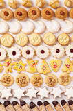 Christmas cookied. Christmas cookies different sorts as background Royalty Free Stock Photos