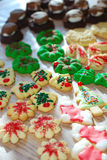 Christmas cookies. Spread out on wax paper Royalty Free Stock Image