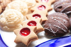 Christmas Cookies. On a plate- variety Stock Image