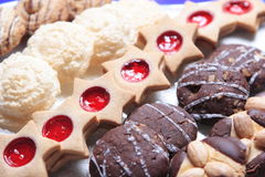 Christmas Cookies. On a plate- variety Stock Photo