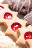 Christmas Cookies. On a plate- variety Stock Images