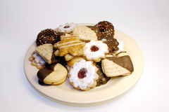 Christmas cookies. A plate with selfmade christmas cookies Stock Images