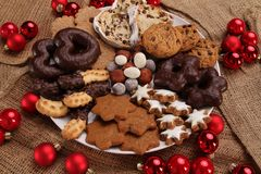 Christmas Cookies. Some delicious christmas cookies and sweets Stock Photography