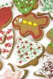 Christmas Cookies. Sweet christmas shapes gingerbread cookies Stock Photos