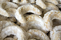 Christmas cookies. In the sugar, vanillas rolls Royalty Free Stock Image