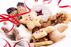 Christmas cookies. Mix on white background Stock Photo
