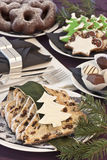 Christmas cookies. Catering table at christmastime Stock Image