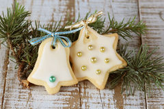 Christmas cookies. With icing decoration Stock Images