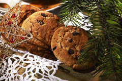 Christmas cookies. Christmas tree and cookies close up Stock Photography