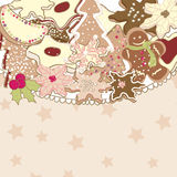 Christmas cookies. Card with Christmas cookies with space for text Royalty Free Stock Photos