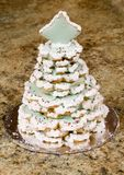 Christmas Cookies. Cookies stacked in a Christmas tree shape Royalty Free Stock Photos