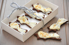 Christmas Cookies. In a box stock images