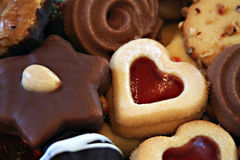 Christmas cookies. Mixed selection of christmas cookies Royalty Free Stock Photo