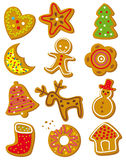 Christmas cookies. Set of christmas cookies on a white background vector illustration