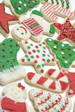 Christmas Cookies. Frosted holiday christmas sugar cookies Royalty Free Stock Images
