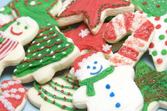 Christmas Cookies. Frosted holiday christmas sugar cookies Stock Photography