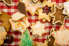 Christmas cookies from above Royalty Free Stock Photo