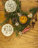 Christmas cookies from above Royalty Free Stock Image