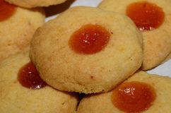 Christmas cookies with apricot jam Royalty Free Stock Photo