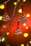 Christmas cookies as tree decoration Stock Images