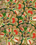 Christmas cookies background stock image