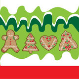 Christmas cookies background Royalty Free Stock Photography