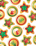 Christmas cookies background Royalty Free Stock Image