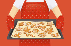 Christmas cookies background Stock Images