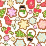 Christmas cookies background Stock Photos