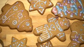 Christmas cookies with baking ingredient stock video footage