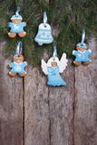 Christmas cookies in blue tones Royalty Free Stock Photos