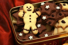 Christmas cookies in a box Royalty Free Stock Image
