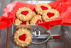 Christmas cookies in the box Royalty Free Stock Photography