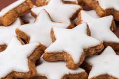 Christmas cookies on a brown background Stock Image
