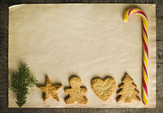 Christmas cookies and candy Royalty Free Stock Images
