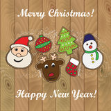 Christmas cookies card 4 Royalty Free Stock Image